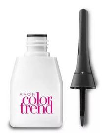 Delineador Liquido Preto Olhos Avon Colortrend 3ml