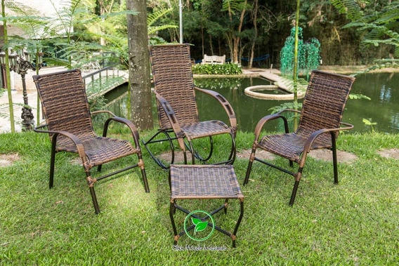 Cadeiras E Mesa Poltrona Fibra Sintética Decoração Festa