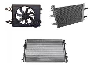 Radiador Condensador Y Electroventilador Gol Trend Fox Suran