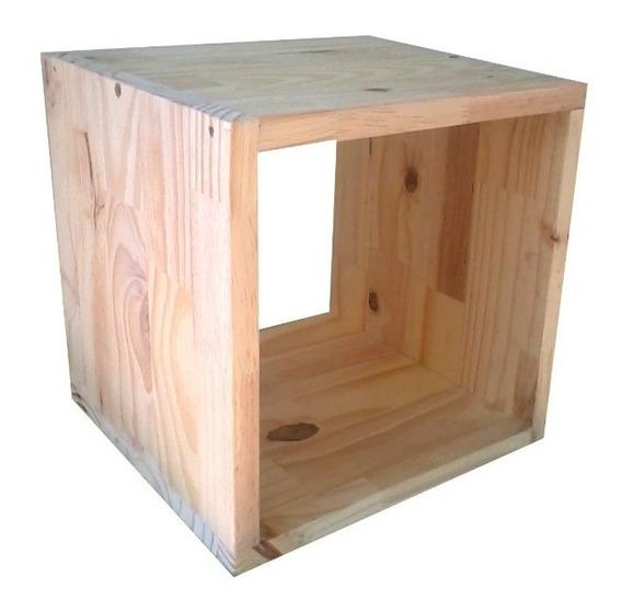 Cubos De Madera Pino Medidas 30 X 30 X 20 Cm Somos Fabrica