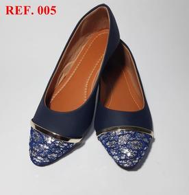 049758185d Sapatilha Bico Fino Com Detalhe Pedraria - Sapatos para Feminino no ...