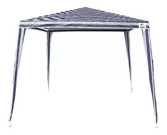 Tenda Gazebo Branca/azul Polietileno Base 3x3 Metros Belfix