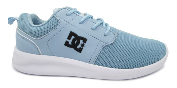 Tenis Dc Shoes Midway Sn Adjs700045 Ltb Light Blue Azul Clar