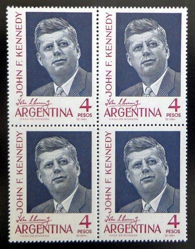 Argentina, Cuadrito Gj 1276 John F Kennedy 64 Mint L9297