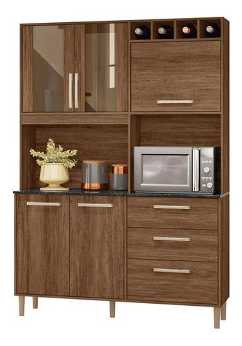 Mueble De Cocina Kit Completo 5 Puertas Cajones Amoblamiento