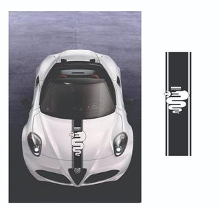 Adesivo Emblema Faixa Capo Alfa Sportivo Ct03