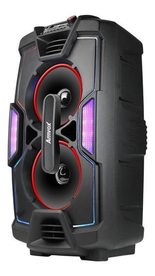 Caixa Amplificada Amvox Aca 200 Bluetooth Usb Auxiliar 200w