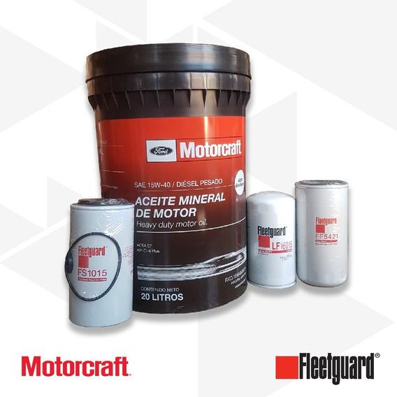 Aceite 15w40 Motorcraft 20lts + Filtros Cummins Isb