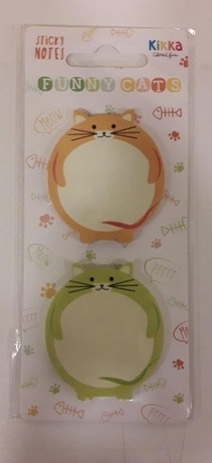Notas Adhesivas Spring & Cats - 2 Diseños Flow Pack X 2 Bloc