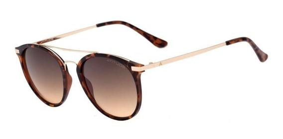 Oculos Sol Atitude At5345 G21 Marrom Lente Marrom Degradê