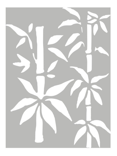 Las Lupes  - Stencil Cañas Bambú - 12  X 15cm