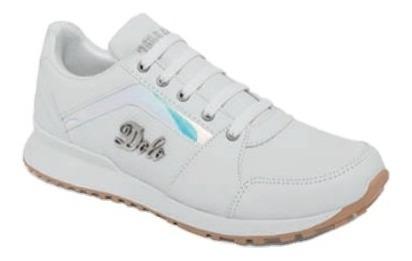 Zapato Tenis Blanco Laser Dama Ajustable