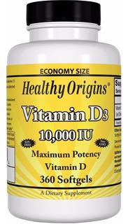 Vitamina D3 10.000ui - 360 Cápsulas Gelatinosas (softgels)