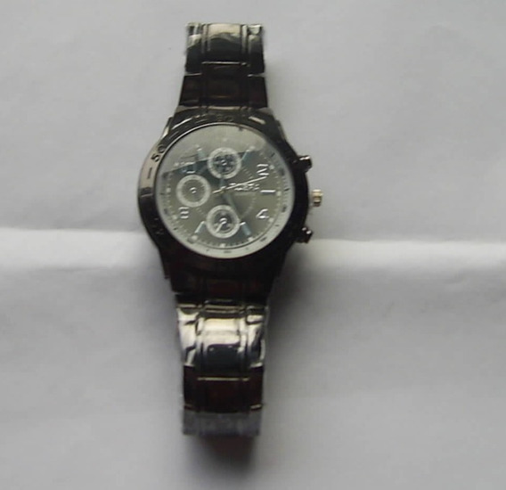 Relógio De Pulso Unissex Preto Quartzo - Pronta Entrega