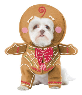 California Costume Collections Gingerbread Pup Dog Costume,