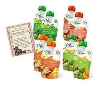 Plum Organics Baby Food Variety Pack De Frutas Y Verduras Se