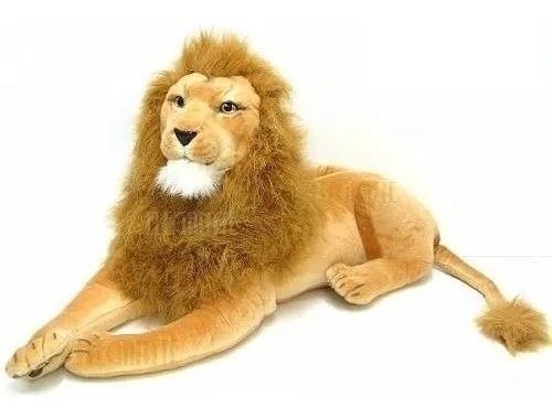 Leão De Pelúcia Gigante Safári 65 Cm (fizzy)