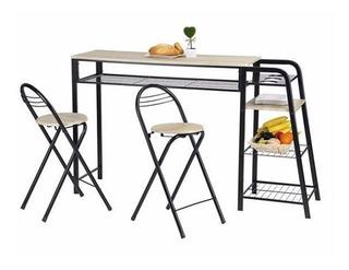 Desayunador Importado + Sillas Mesa Porta Frutas Diseño