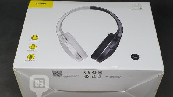 Fone De Ouvido Bluetooth Headphone Baseus D02 Bt Dobrável