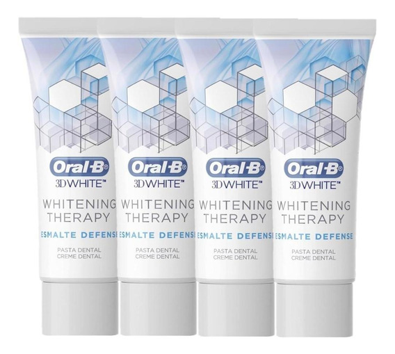 Kit Com 4 Oral-b 3d Whitening Therapy Esmalte Defense 103g