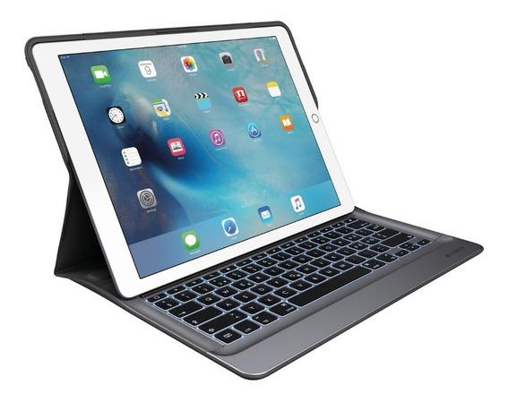 Capa Teclado Retroiluminado Logitech P/ iPad Pro 12.9 1ª 2ª