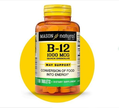 Vitamina B12 1000 Mcg Sublingual Marca Mason
