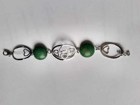 Pulseira Bracelete Pedra Verde