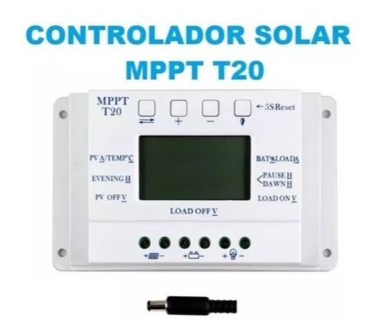 Controlador De Carga Para Painel Solar 20a Mppt 12e24v