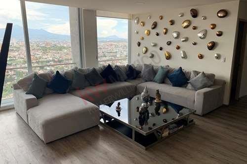 Departamento Amueblado En Torre Artema, Angelopolis, Frente A Jardín De Arte Con Espectacular Vista, Puebla