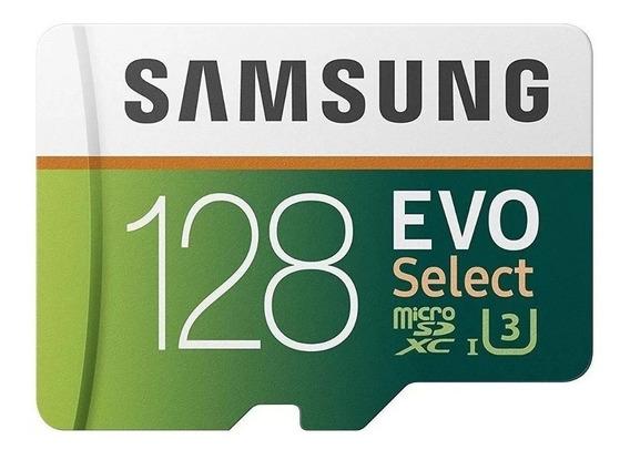 Cartão De Memória Micro Sd Samsung Evo Select 128gb 4k Ultra