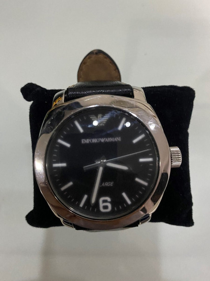 Relógio De Luxo Armani Couro