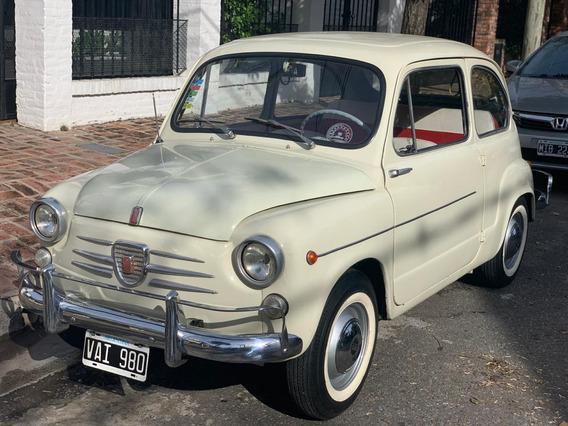 Fiat 600 D 1962 Puertas Suicidas.-ùnico.