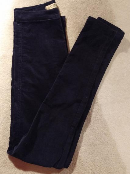 Pantalon De Terciopelo Azul Marca Materia Talle Xs Envios