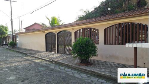 Casa Com 3 Dorms, Vila Anhanguera, Mongaguá - R$ 520 Mil, Cod: 828795 - V828795
