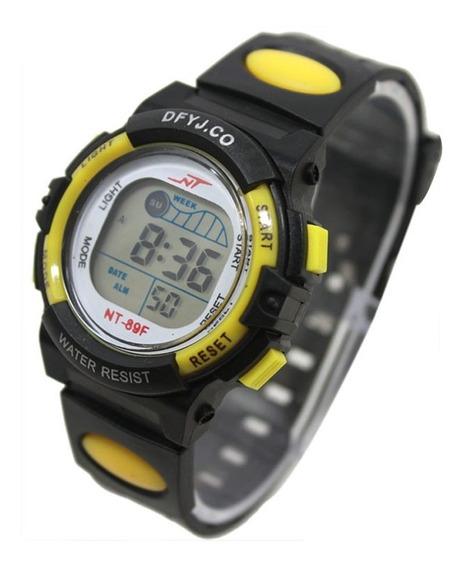 Relógio Infantil Digital Led Com Alarme 5 Luzes Diferentes A