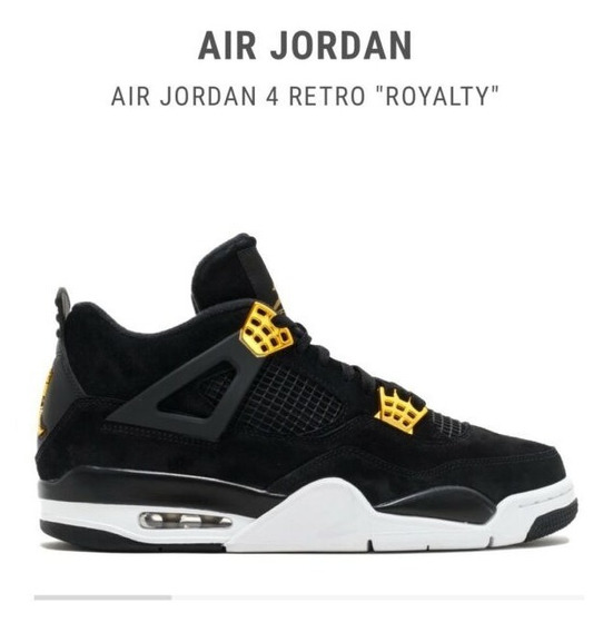 Air Jordan 4 Royalty Negro Con Dorado (talla 13 Usa)