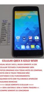 Celular Qbex W509 X-gray W510 Sem Bateria E Tampa Leia (06)