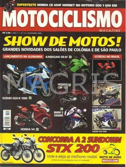 Frete Grátis Motociclismo 11/2008 Tnt 899 S, Gsx-r 1000, Cit