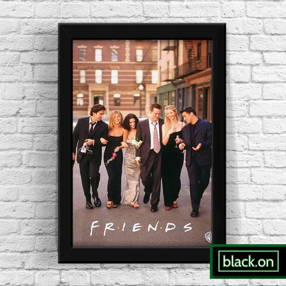 Poster A4 Quadro Moldura Seriado Serie Tv Friends 30x20cm #1