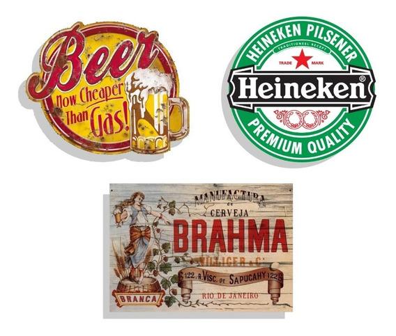 Chapas Carteles Vintage Retro Cerveza -promo X 7 A Elección