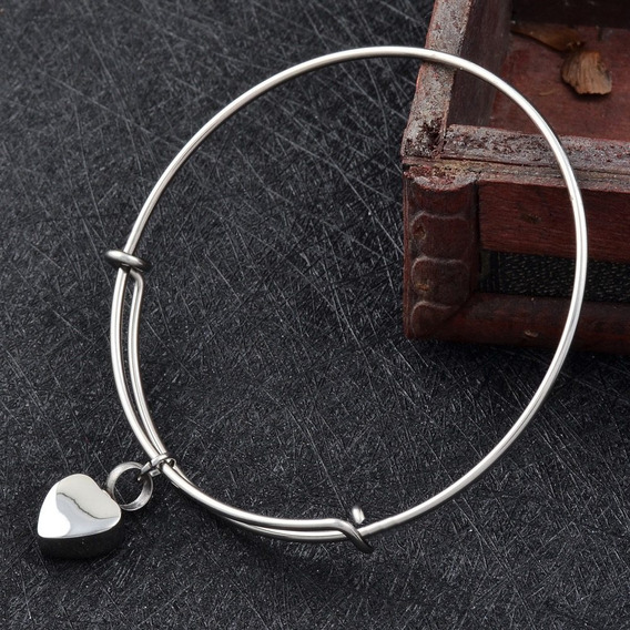 1 Pulsera Pequeño Corazón Urna Relicario Cenizas