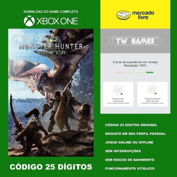 Monster Hunter World Codigo 25 Digitos Xbox One Fat S X