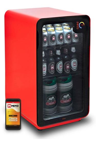Cervejeira Memo 100 Litros Frost Free Vermelha Com Wi-fi