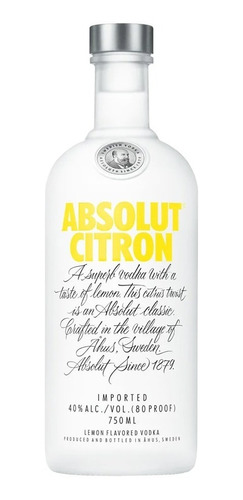 Vodka Absolut Citron 750ml.