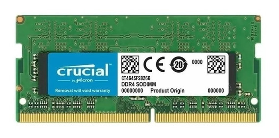 Memoria Crucial Ddr4 4gb 2666mhz Pc4-21300 Cl17 Sodimm