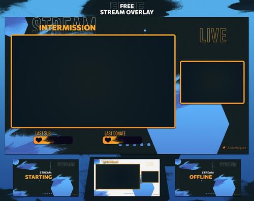 Stream Overlay Personalizado & Animado P/ Twtich E Yt Pacote