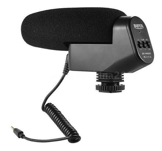 Microfone Direcional Externo Shotgun By-vm600 Boya