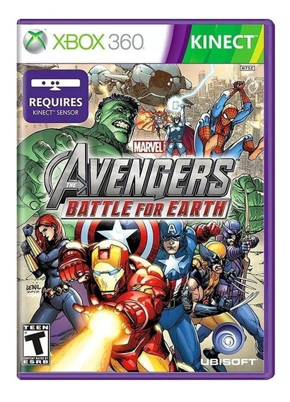 Jogo Avengers The Battle For Earth Xbox 360 Física Novo