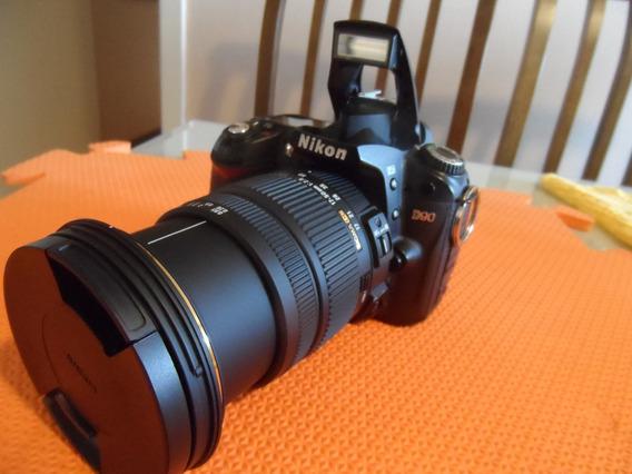 Camêra Digital Profissional Nikon D90 + Lente Sigma 17x59mm