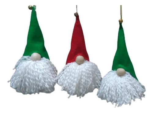 Imagen 1 de 5 de Decoración Navidad Adorno Árbol De Navidad- Gnomos X 2